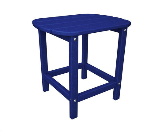 "Polywood SBT18PB South Beach 18"" Side Table in Pacific Blue - PolyFurnitureStore"