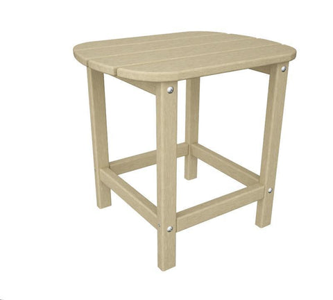 "Polywood SBT18SA South Beach 18"" Side Table in Sand - PolyFurnitureStore"