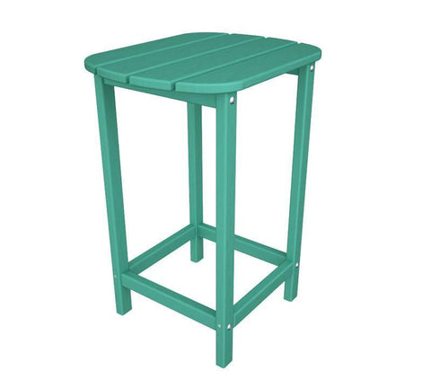 "Polywood SBT26AR South Beach 26"" Counter Side Table in Aruba - PolyFurnitureStore"