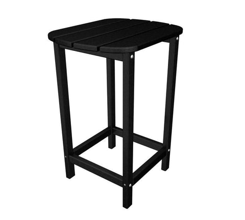 "Polywood SBT26BL South Beach 26"" Counter Side Table in Black - PolyFurnitureStore"