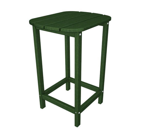 "Polywood SBT26GR South Beach 26"" Counter Side Table in Green - PolyFurnitureStore"