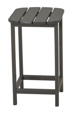 "Polywood SBT26GY South Beach 26"" Counter Side Table in Slate Grey - PolyFurnitureStore"