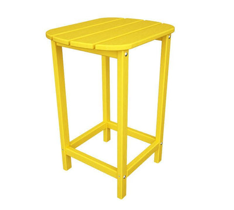 "Polywood SBT26LE South Beach 26"" Counter Side Table in Lemon - PolyFurnitureStore"