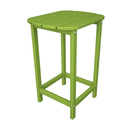 "Polywood SBT26LI South Beach 26"" Counter Side Table in Lime - PolyFurnitureStore"