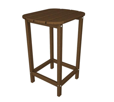 "Polywood SBT26TE South Beach 26"" Counter Side Table in Teak - PolyFurnitureStore"