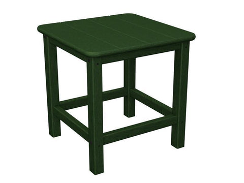 "Polywood SH18GR Seashell 18"" Side Table in Green - PolyFurnitureStore"