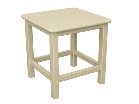 "Polywood SH18SA Seashell 18"" Side Table in Sand - PolyFurnitureStore"