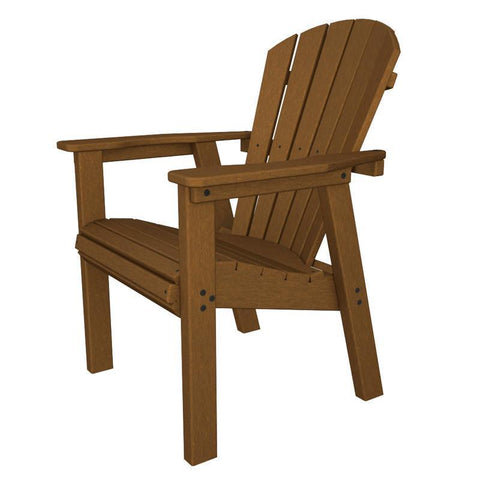 Polywood SHD19TE Seashell Casual Chair in Teak - PolyFurnitureStore
