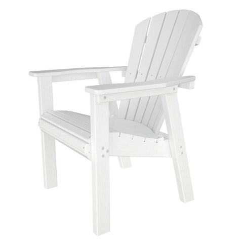 Polywood SHD19WH Seashell Casual Chair in White - PolyFurnitureStore