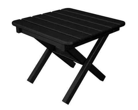 "Polywood ST1818BL Square 18"" Side Table in Black - PolyFurnitureStore"