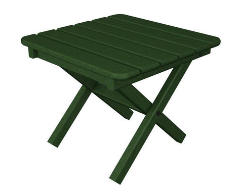 "Polywood ST1818GR Square 18"" Side Table in Green - PolyFurnitureStore"