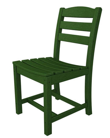 Polywood TD100GR La Casa Café Dining Side Chair in Green - PolyFurnitureStore