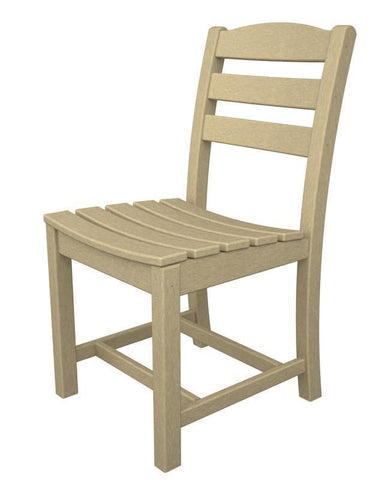 Polywood TD100SA La Casa Café Dining Side Chair in Sand - PolyFurnitureStore