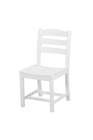 Polywood TD100WH La Casa Café Dining Side Chair in White - PolyFurnitureStore