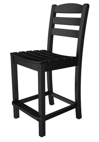 Polywood TD101BL La Casa Café Counter Side Chair in Black - PolyFurnitureStore