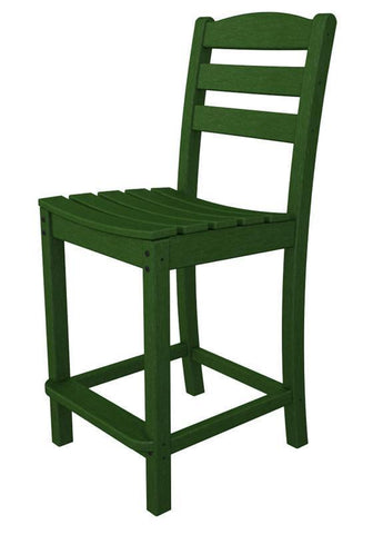Polywood TD101GR La Casa Café Counter Side Chair in Green - PolyFurnitureStore