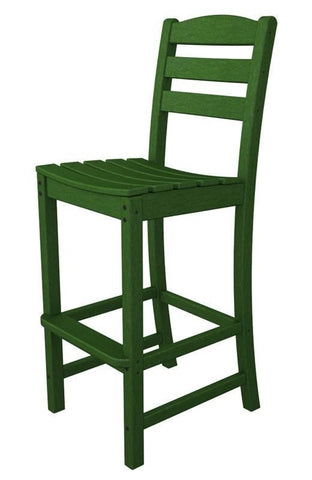 Polywood TD102GR La Casa Café Bar Side Chair in Green - PolyFurnitureStore