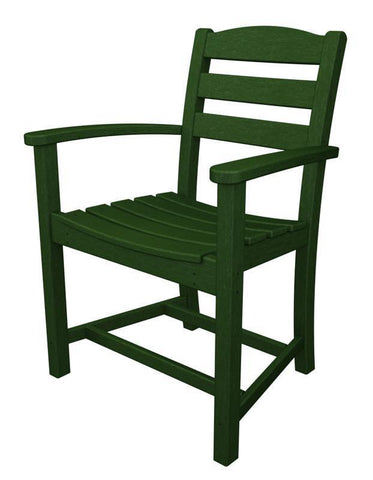 Polywood TD200GR La Casa Café Dining Arm Chair in Green - PolyFurnitureStore
