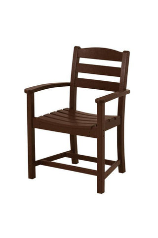 Polywood TD200MA La Casa Café Dining Arm Chair in Mahogany - PolyFurnitureStore