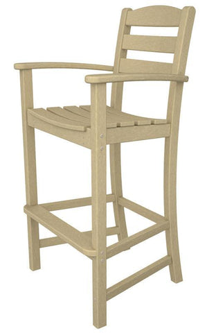 Polywood TD202SA La Casa Café Bar Arm Chair in Sand - PolyFurnitureStore