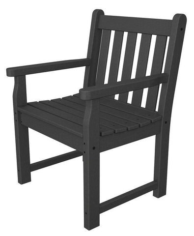 Polywood TGB24GY Traditional Garden Arm Chair in Slate Grey - PolyFurnitureStore