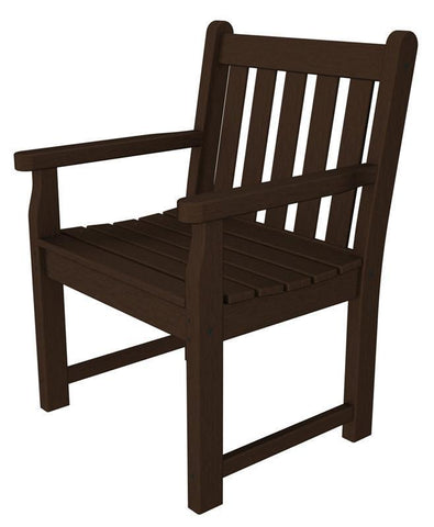 Polywood TGB24MA Traditional Garden Arm Chair in Mahogany - PolyFurnitureStore