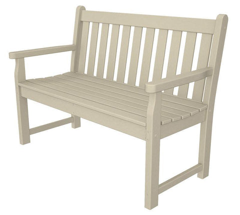 "Polywood TGB48SA Traditional Garden 48"" Bench in Sand - PolyFurnitureStore"