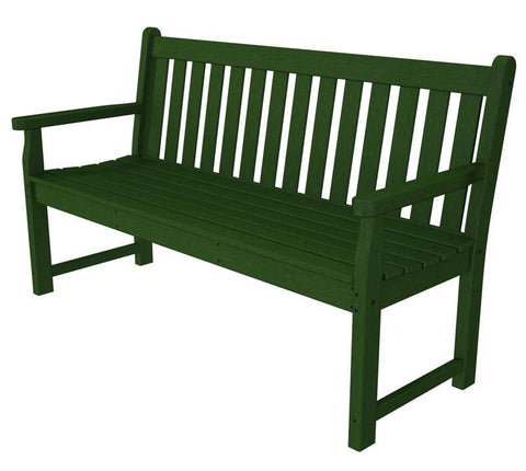 "Polywood TGB60GR Traditional Garden 60"" Bench in Green - PolyFurnitureStore"