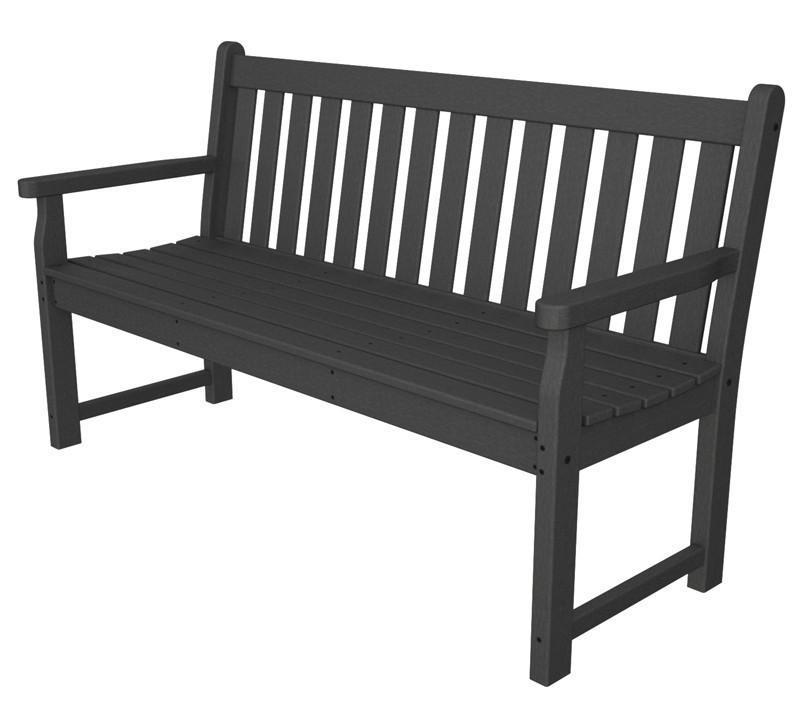 Garden Bench Slate Grey Traditional 3679 Product Photo