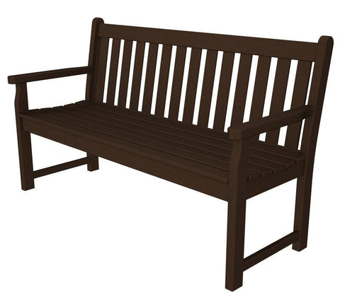 "Polywood TGB60MA Traditional Garden 60"" Bench in Mahogany - PolyFurnitureStore"