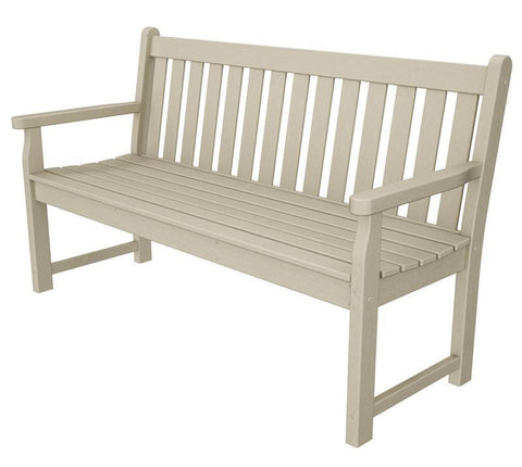 "Polywood TGB60SA Traditional Garden 60"" Bench in Sand - PolyFurnitureStore"