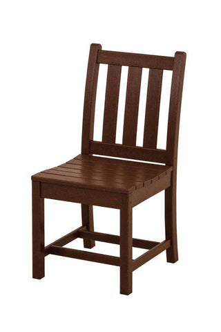 Polywood TGD100MA Traditional Garden Dining Side Chair in Mahogany - PolyFurnitureStore