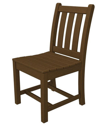 Polywood TGD100TE Traditional Garden Dining Side Chair in Teak - PolyFurnitureStore