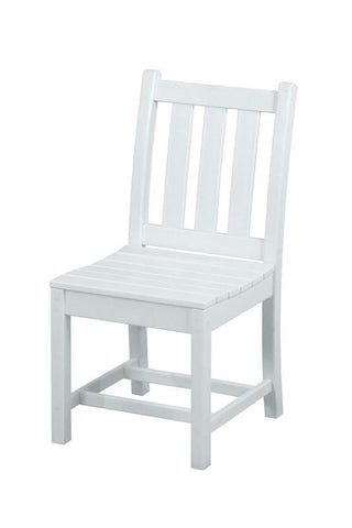 Polywood TGD100WH Traditional Garden Dining Side Chair in White - PolyFurnitureStore
