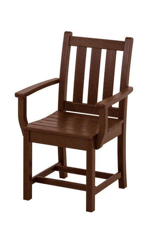 Polywood TGD200MA Traditional Garden Dining Arm Chair in Mahogany - PolyFurnitureStore