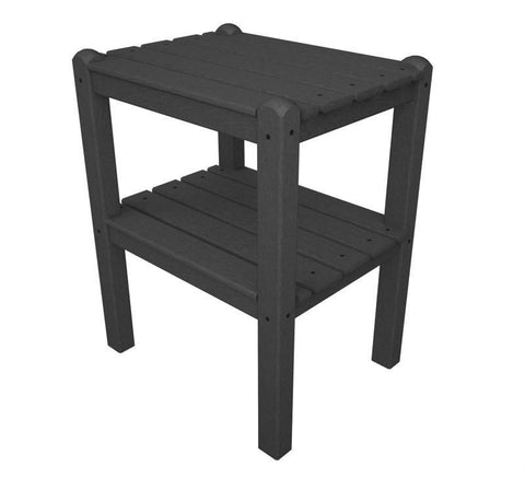 Polywood TWSTGY Two Shelf Side Table in Slate Grey - PolyFurnitureStore