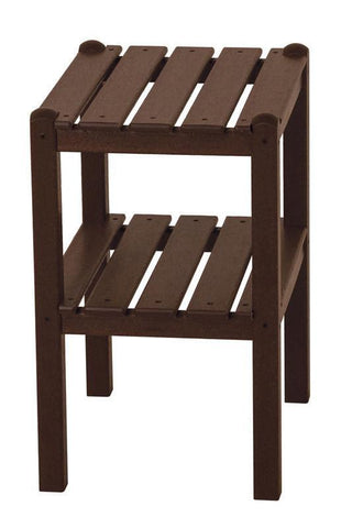 Polywood TWSTMA Two Shelf Side Table in Mahogany - PolyFurnitureStore