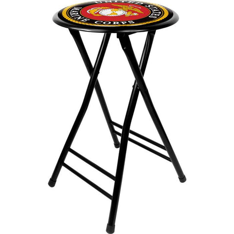 Usmc2400-B United States Marine Corps 24 Inch Cushioned Folding Stool