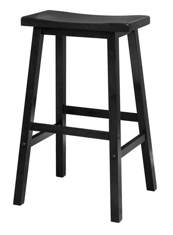 "Winsome Wood 20089 Saddle Seat 29"" Black Stool, Single, RTA - BarstoolDirect.com"