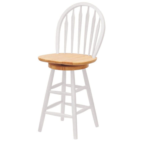 "Winsome Wood 53624 Windsor Swivel Stool, 24"", Single, RTA - BarstoolDirect.com"