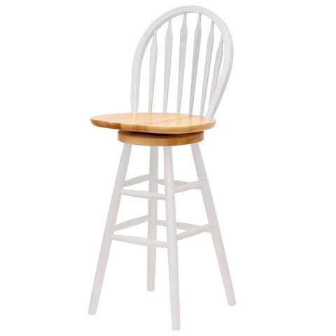 "Winsome Wood 53630 Windsor Swivel Stool, 30"", Single, RTA - BarstoolDirect.com"
