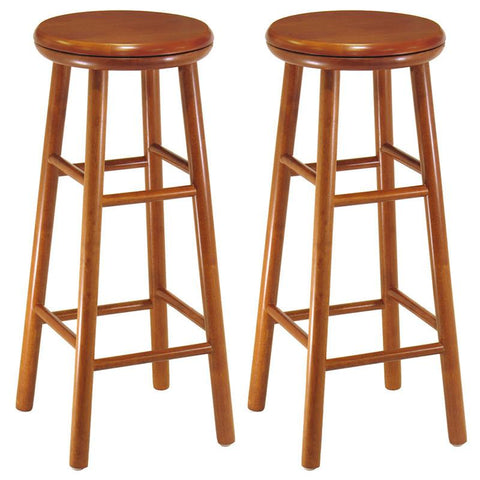 "Winsome Wood 75230 Set of 2, Swivel Seat, 30"" Stool, Assembled - BarstoolDirect.com"