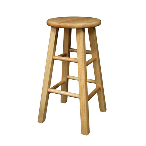 "Winsome Wood 83224 Set of 2, Square Leg 24"" Stool, Assembled - BarstoolDirect.com"