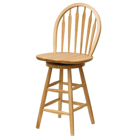"Winsome Wood 89624 24"" Windsor Swivel Stool, Single, RTA - BarstoolDirect.com"