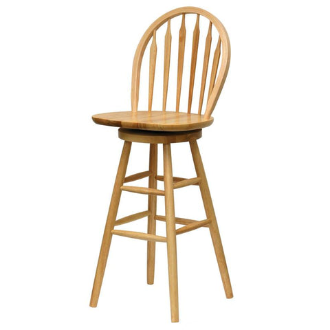"Winsome Wood 89630 30"" Windsor Swivel Stool, Single, RTA - BarstoolDirect.com"