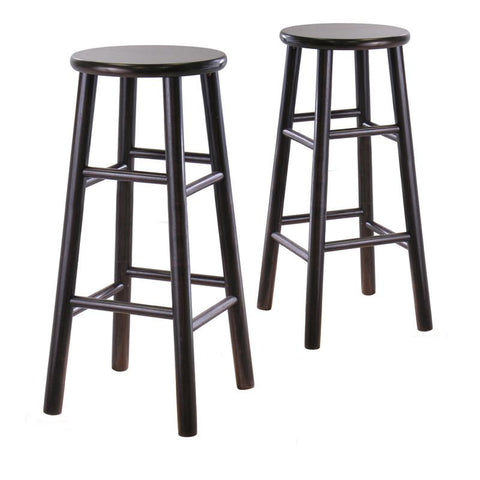 "Winsome Wood 92780 Set of 2, 30"" Bevel seat stool, Assembled - BarstoolDirect.com"