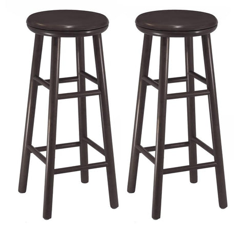 "Winsome Wood 92790 Set of 2, 30"" Swivel Bar Stool, Assembled - BarstoolDirect.com"