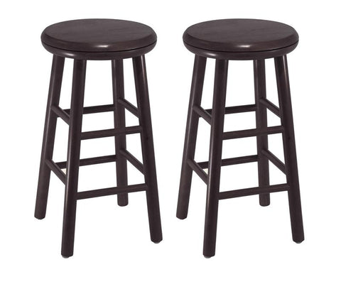 "Winsome Wood 92794 Set of 2, 24"" Swivel Kitchen Stool, Assembled - BarstoolDirect.com"