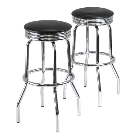 Winsome Wood 93028 Summit Set of 2 Swivel Bar Stools - BarstoolDirect.com