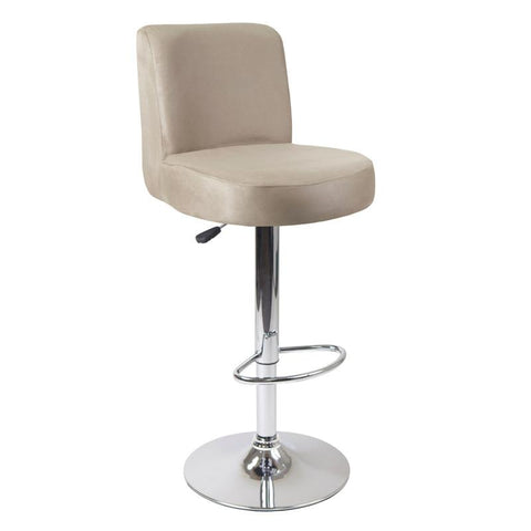 Winsome Wood 93119 Jayden Air Lift Stool, Micro Fiber Top, Brown - BarstoolDirect.com